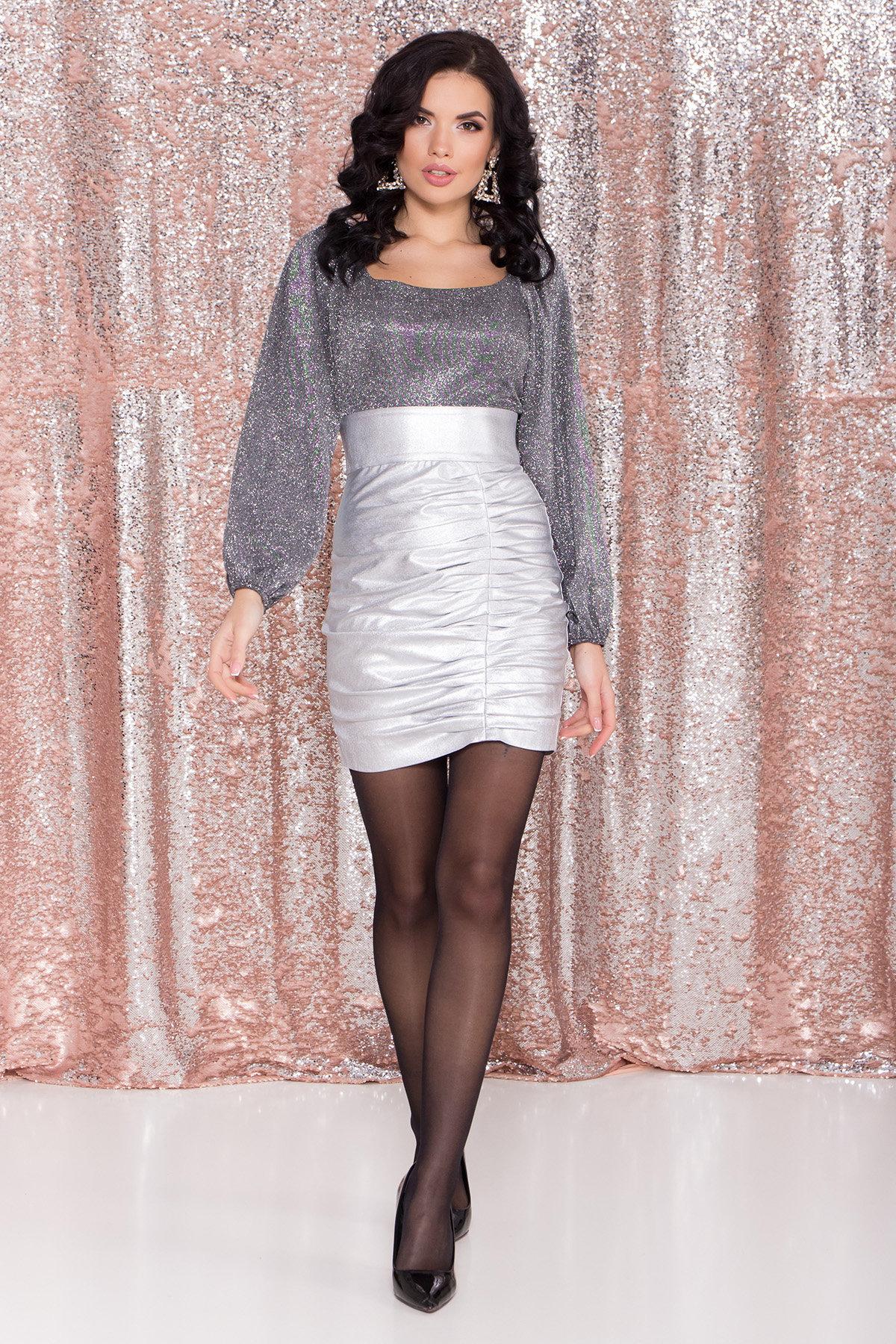 Купить платья оптом Украина Платье с драпировкой Линси 8534