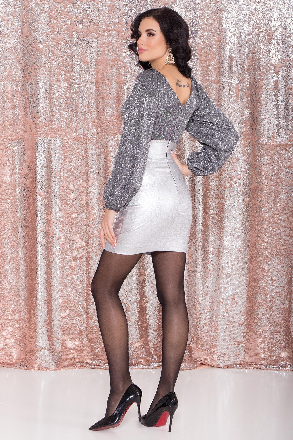 Платье с драпировкой Линси 8534 АРТ. 44973 Цвет: Серебро 2 - фото 6, интернет магазин tm-modus.ru