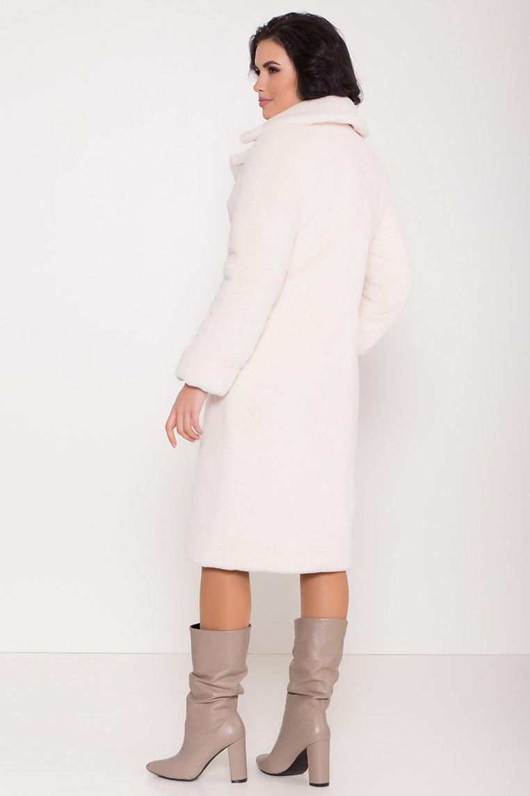 Зимнее пальто из искусственного меха норки Саманта 8641 АРТ. 44957 Цвет: Молоко - фото 11, интернет магазин tm-modus.ru