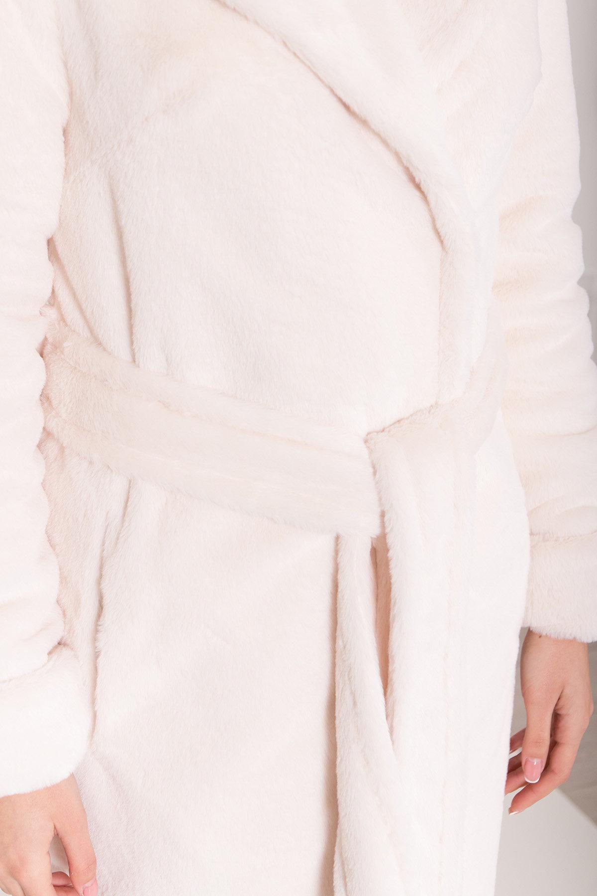 Зимнее пальто из искусственного меха норки Саманта 8641 АРТ. 44957 Цвет: Молоко - фото 16, интернет магазин tm-modus.ru