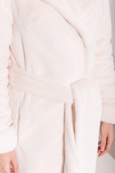 Зимнее пальто из искусственного меха норки Саманта 8641 Цвет: Молоко