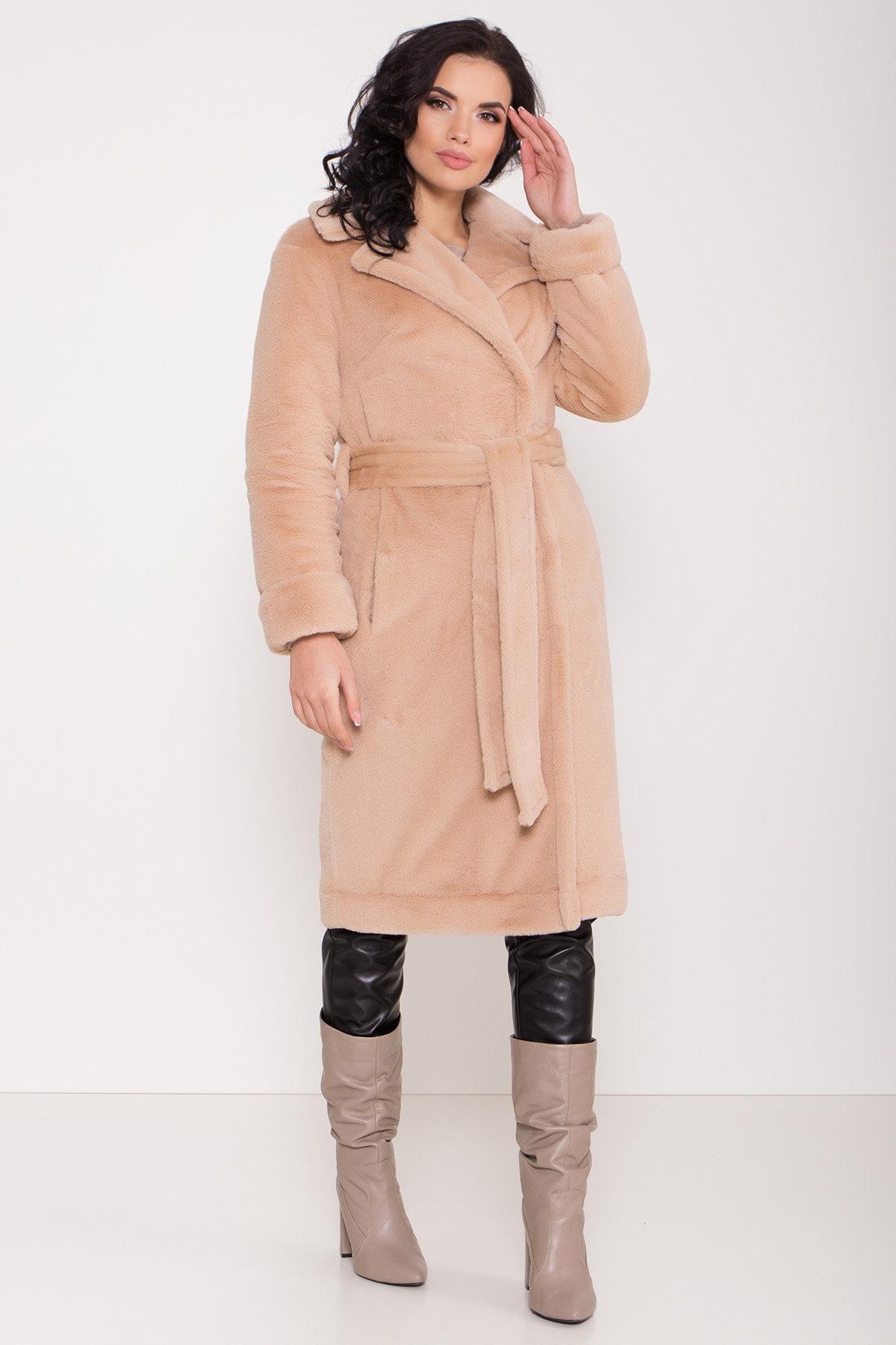 Зимнее пальто из искусственного меха норки Саманта 8641