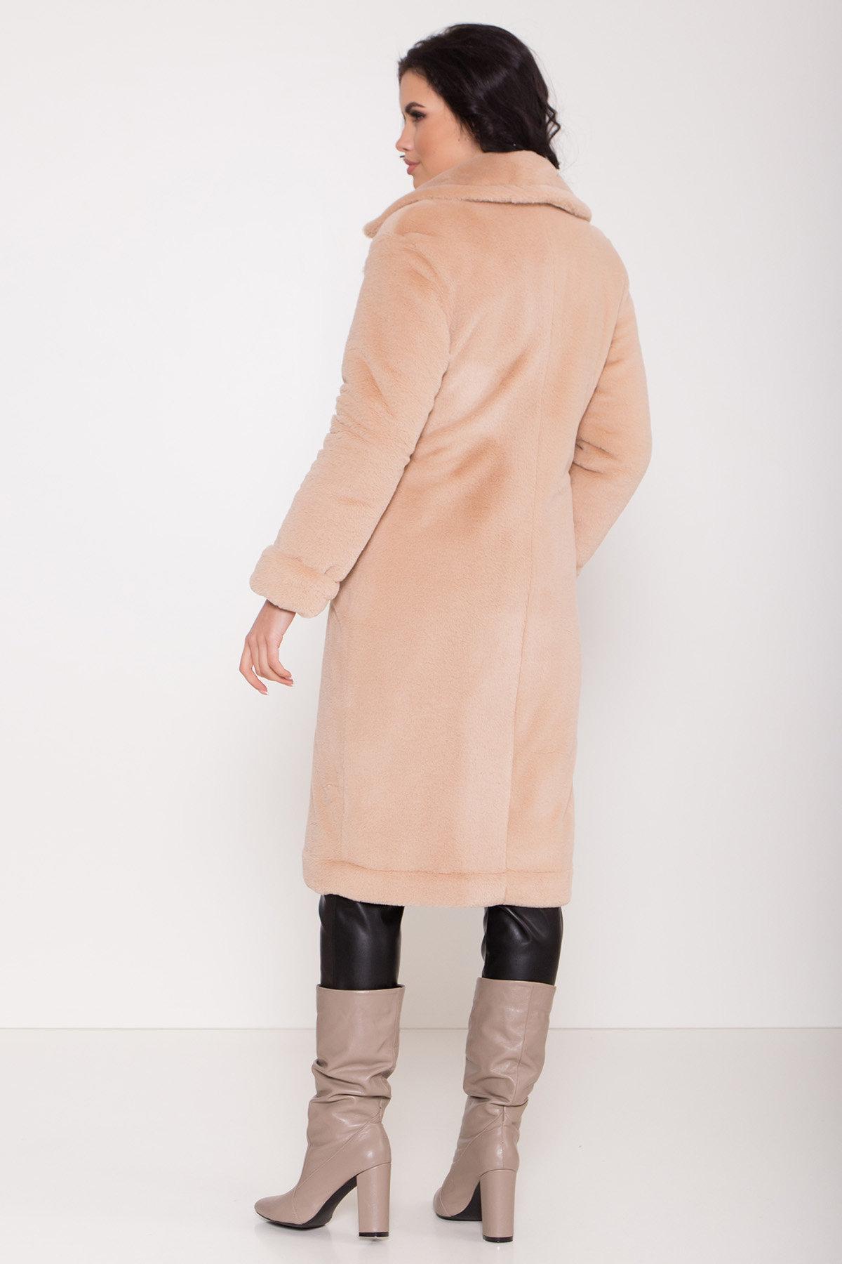 Зимнее пальто из искусственного меха норки Саманта 8641 АРТ. 44956 Цвет: Бежевый - фото 4, интернет магазин tm-modus.ru