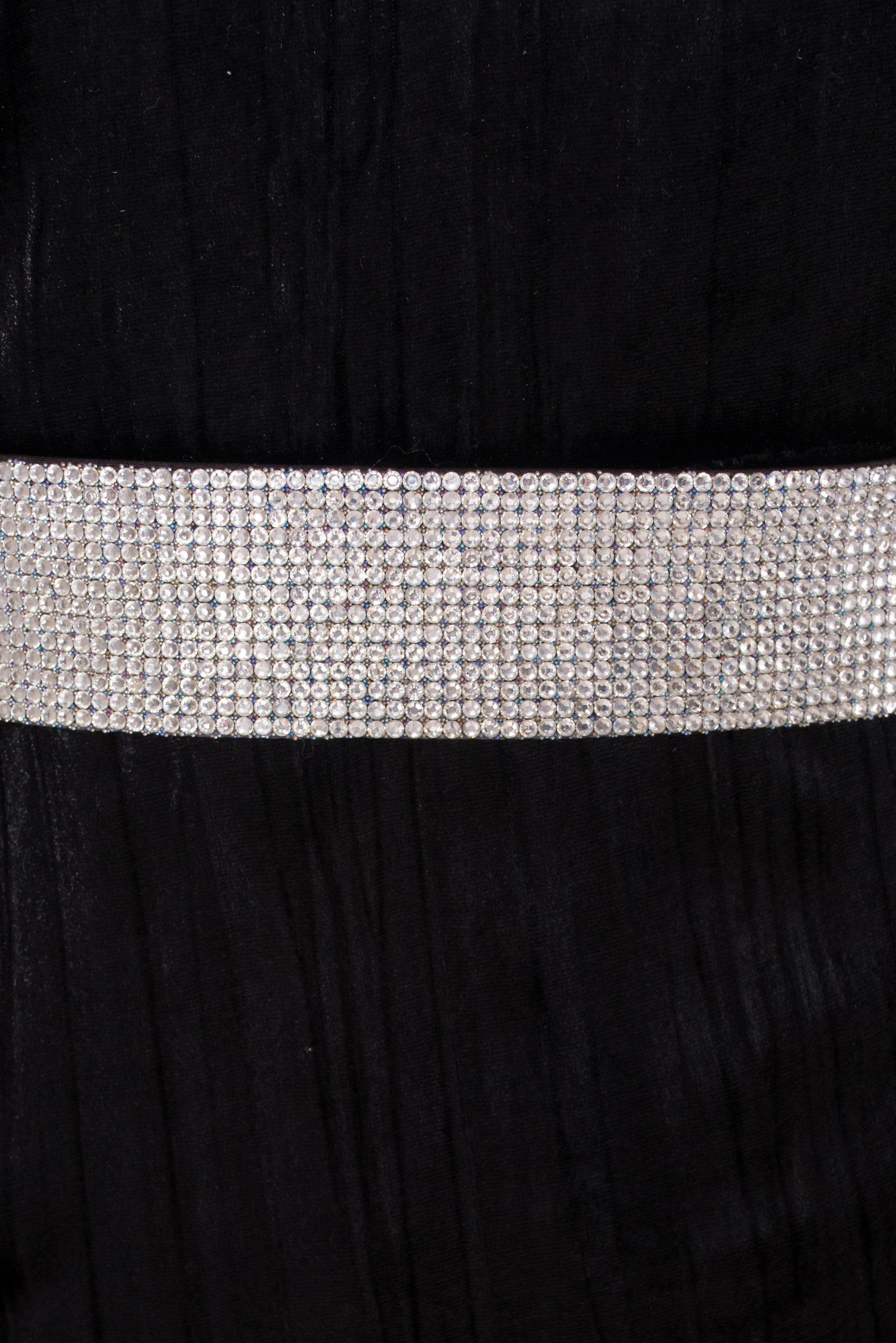 Велюровое платье-миди длины Блек 8652 АРТ. 44974 Цвет: Черный - фото 9, интернет магазин tm-modus.ru