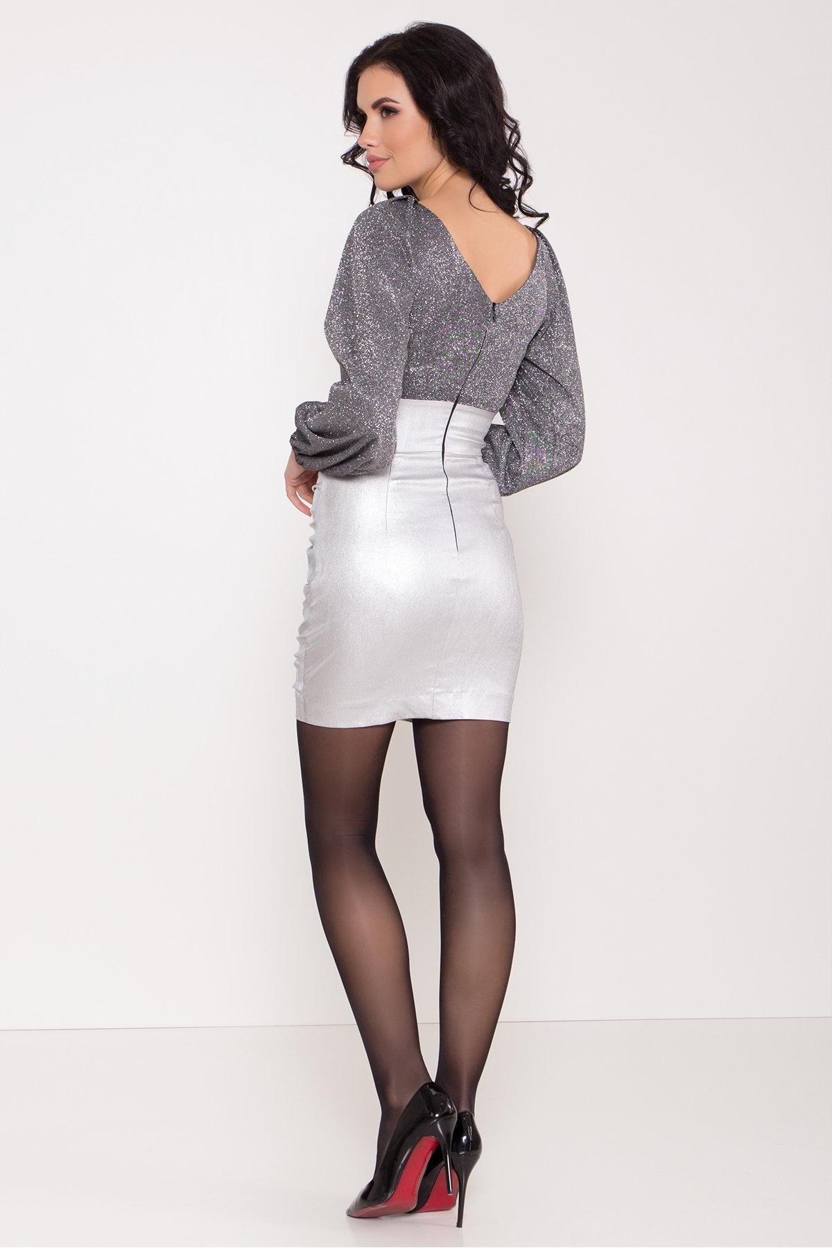 Платье с драпировкой Линси 8534 Цвет: Серебро 2