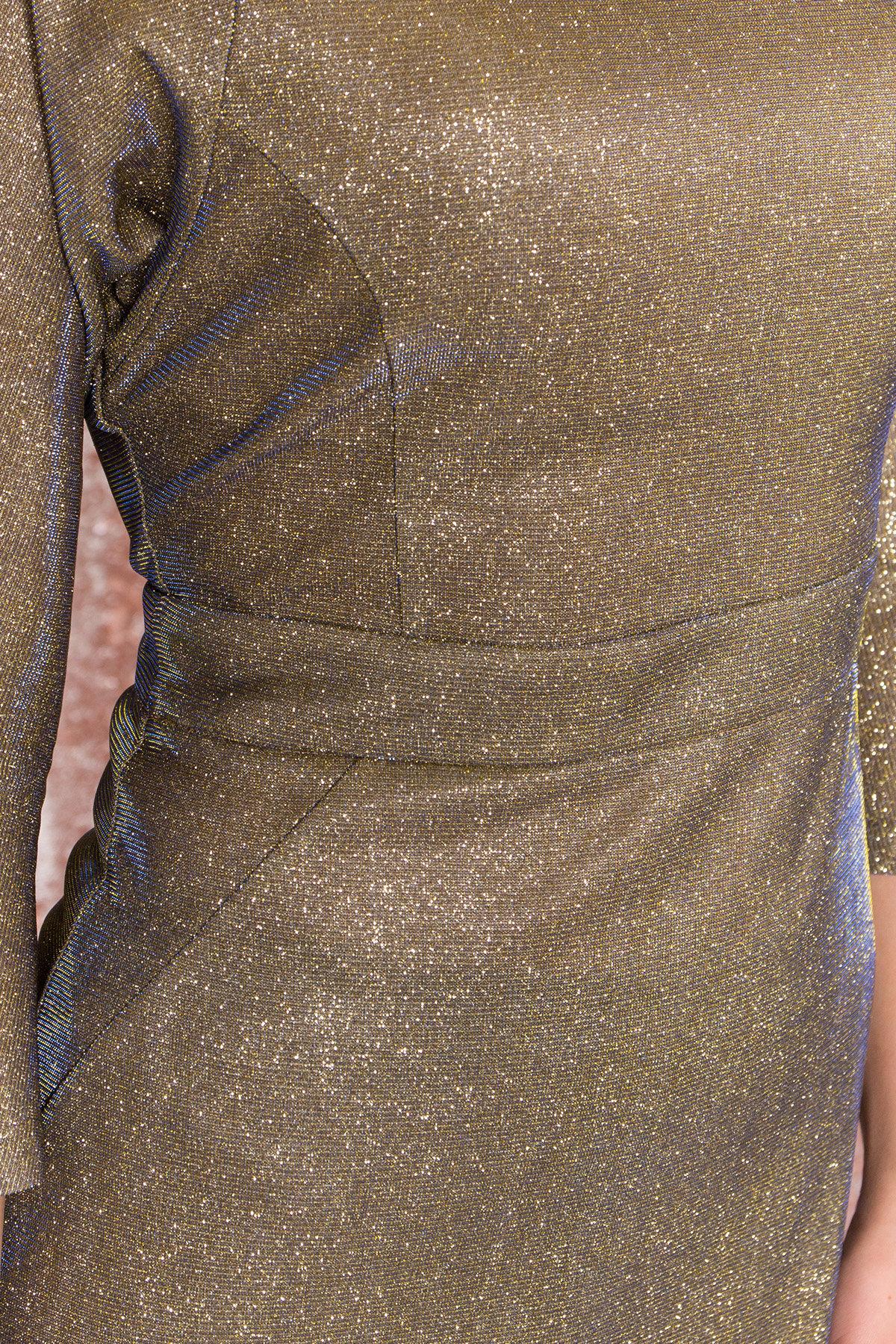 Платье-хамелеон из трикотажа с люрексом Инглот 8428 АРТ. 45009 Цвет: Золото/электрик - фото 4, интернет магазин tm-modus.ru