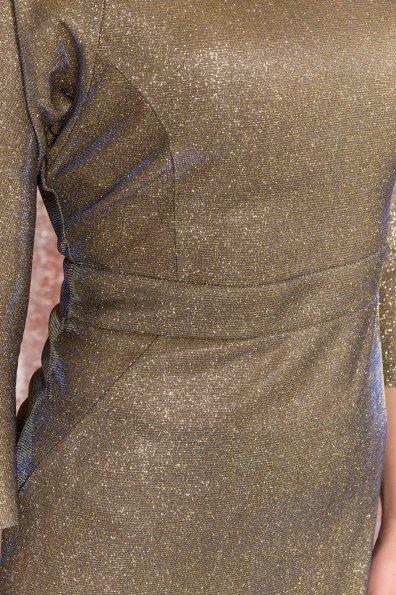 Платье-хамелеон из трикотажа с люрексом Инглот 8428 Цвет: Золото/электрик