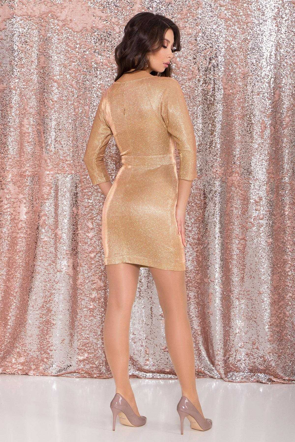 Платье-хамелеон из трикотажа с люрексом Инглот 8428 АРТ. 45008 Цвет: Золото/розовый - фото 7, интернет магазин tm-modus.ru