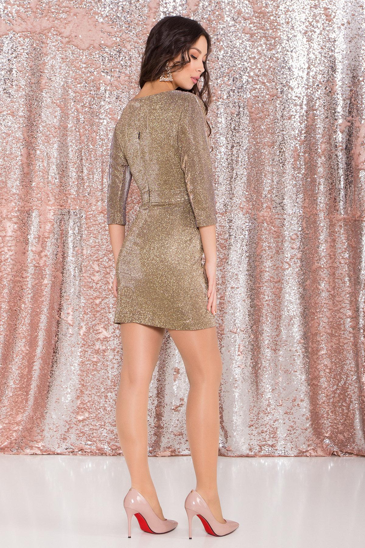Платье-хамелеон из трикотажа с люрексом Инглот 8428 АРТ. 44863 Цвет: Золото/серебро - фото 5, интернет магазин tm-modus.ru