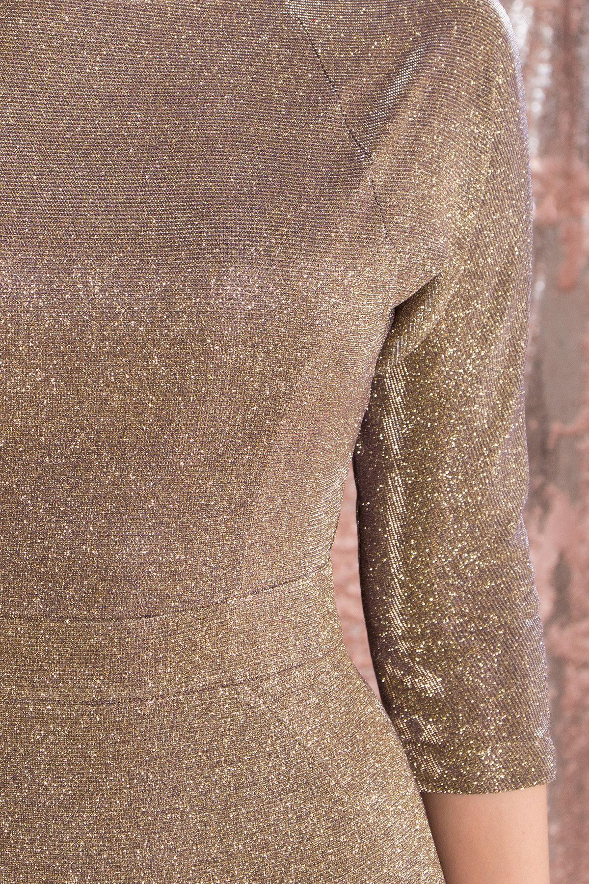 Платье-хамелеон из трикотажа с люрексом Инглот 8428 АРТ. 44863 Цвет: Золото/серебро - фото 7, интернет магазин tm-modus.ru