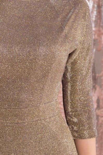 Платье-хамелеон из трикотажа с люрексом Инглот 8428 Цвет: Золото/серебро