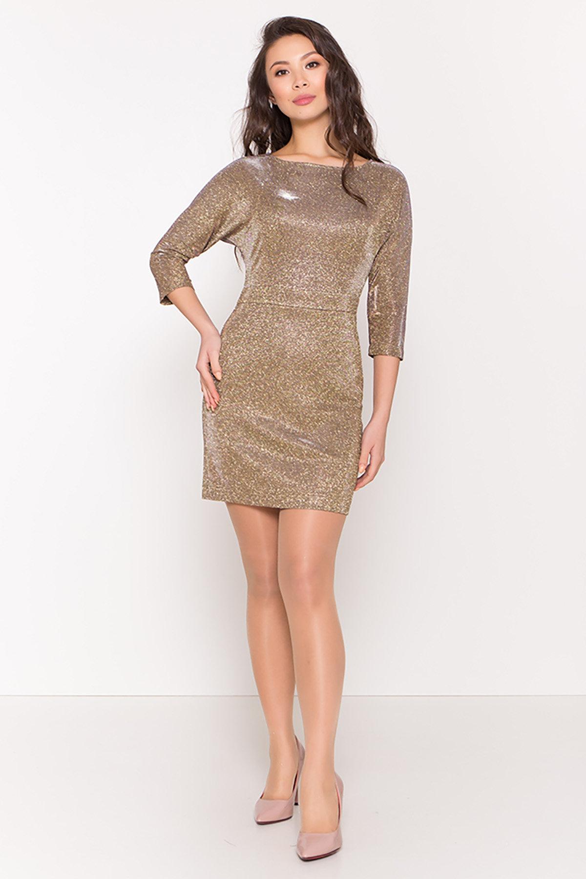 Платье-хамелеон из трикотажа с люрексом Инглот 8428 АРТ. 44863 Цвет: Золото/серебро - фото 2, интернет магазин tm-modus.ru