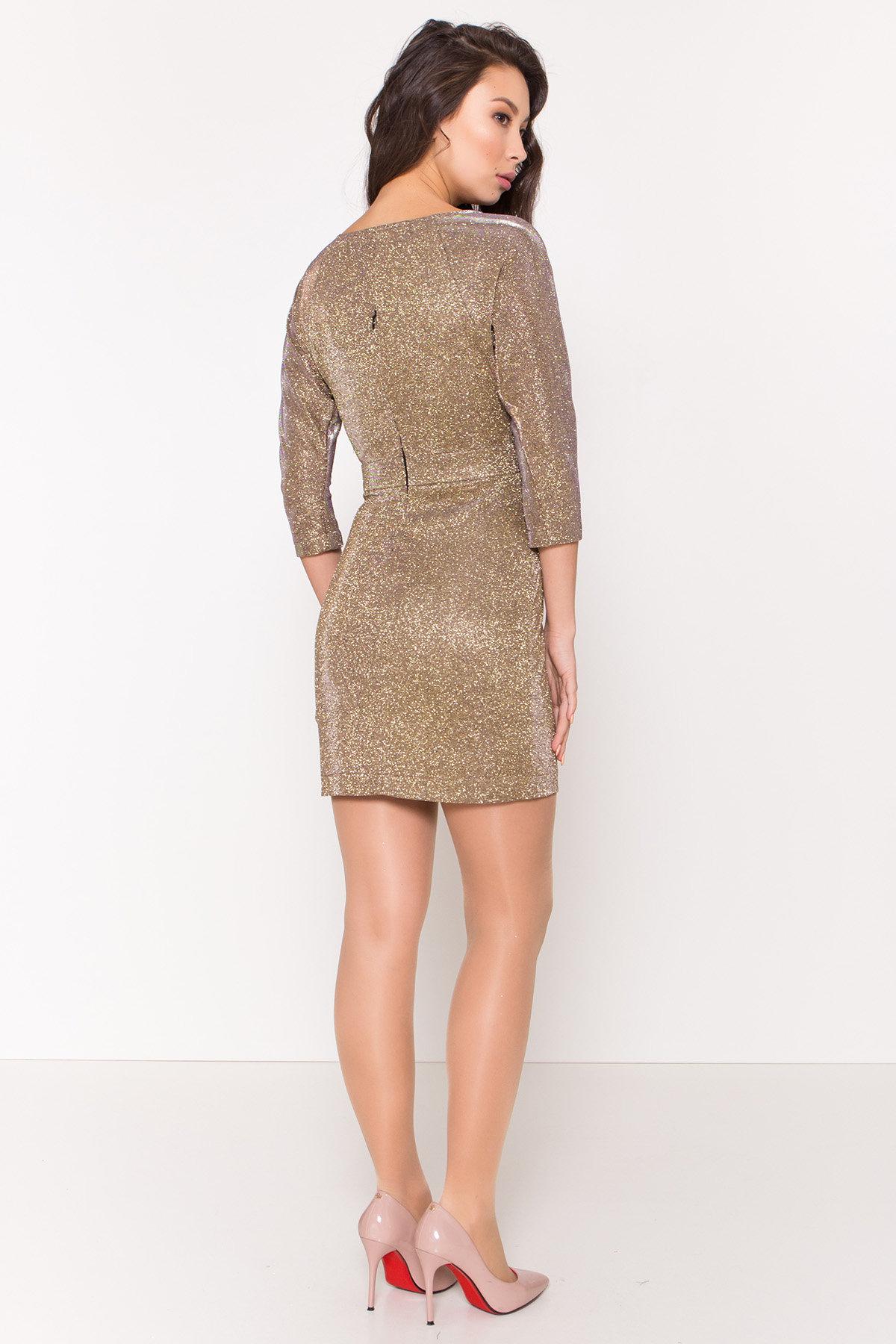 Платье-хамелеон из трикотажа с люрексом Инглот 8428 АРТ. 44863 Цвет: Золото/серебро - фото 4, интернет магазин tm-modus.ru