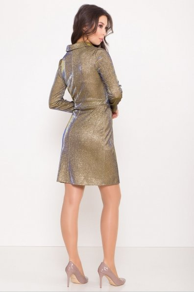Платье Шати 8686 Цвет: Золото/электрик