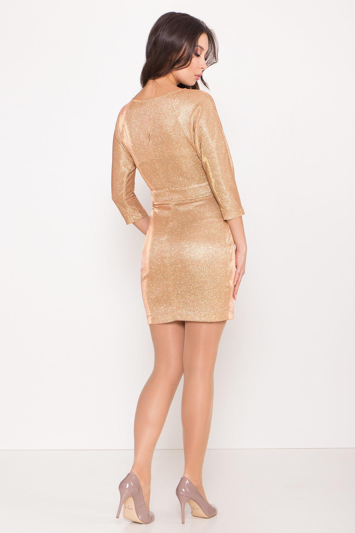 Платье-хамелеон из трикотажа с люрексом Инглот 8428 АРТ. 45008 Цвет: Золото/розовый - фото 5, интернет магазин tm-modus.ru
