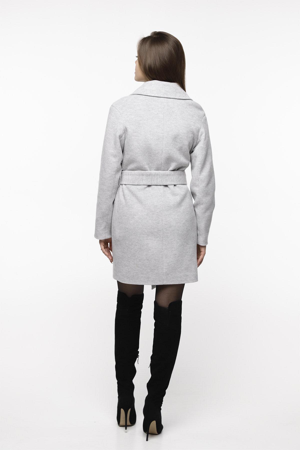 Кашемировое пальто Вейсона 8803 АРТ. 45140 Цвет: Светло серый - фото 3, интернет магазин tm-modus.ru