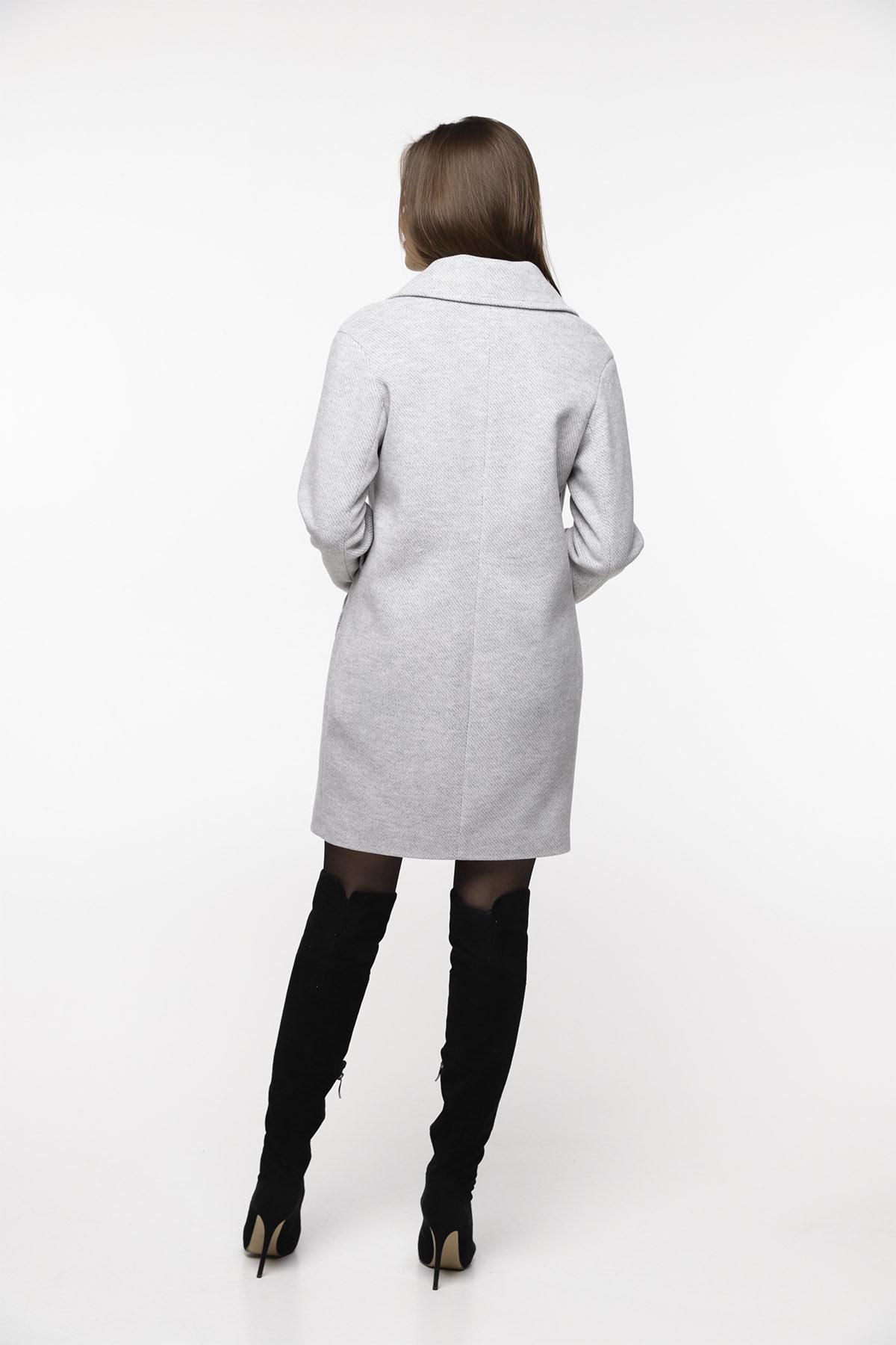 Кашемировое пальто Вейсона 8803 АРТ. 45140 Цвет: Светло серый - фото 4, интернет магазин tm-modus.ru