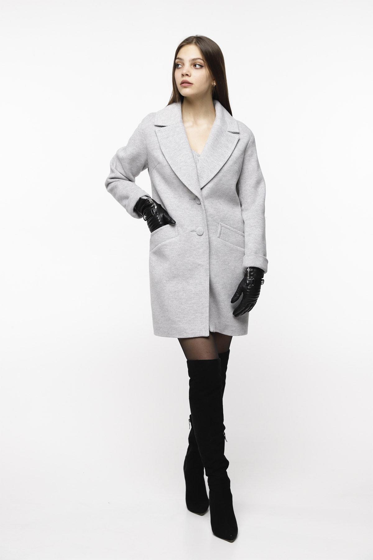 Кашемировое пальто Вейсона 8803 АРТ. 45140 Цвет: Светло серый - фото 5, интернет магазин tm-modus.ru