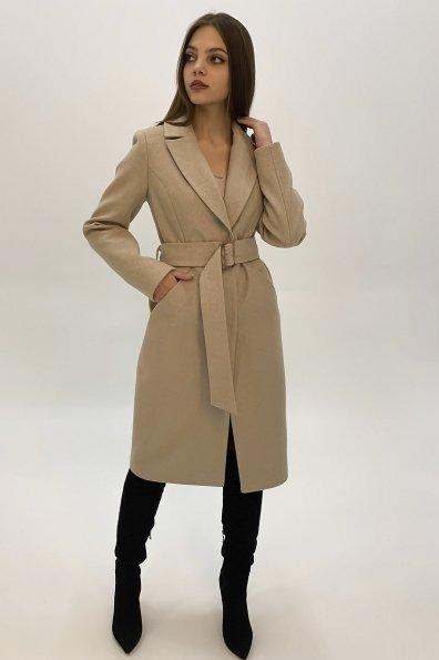Элегантное пальто из кашемира Кареро 8771 Цвет: Бежевый