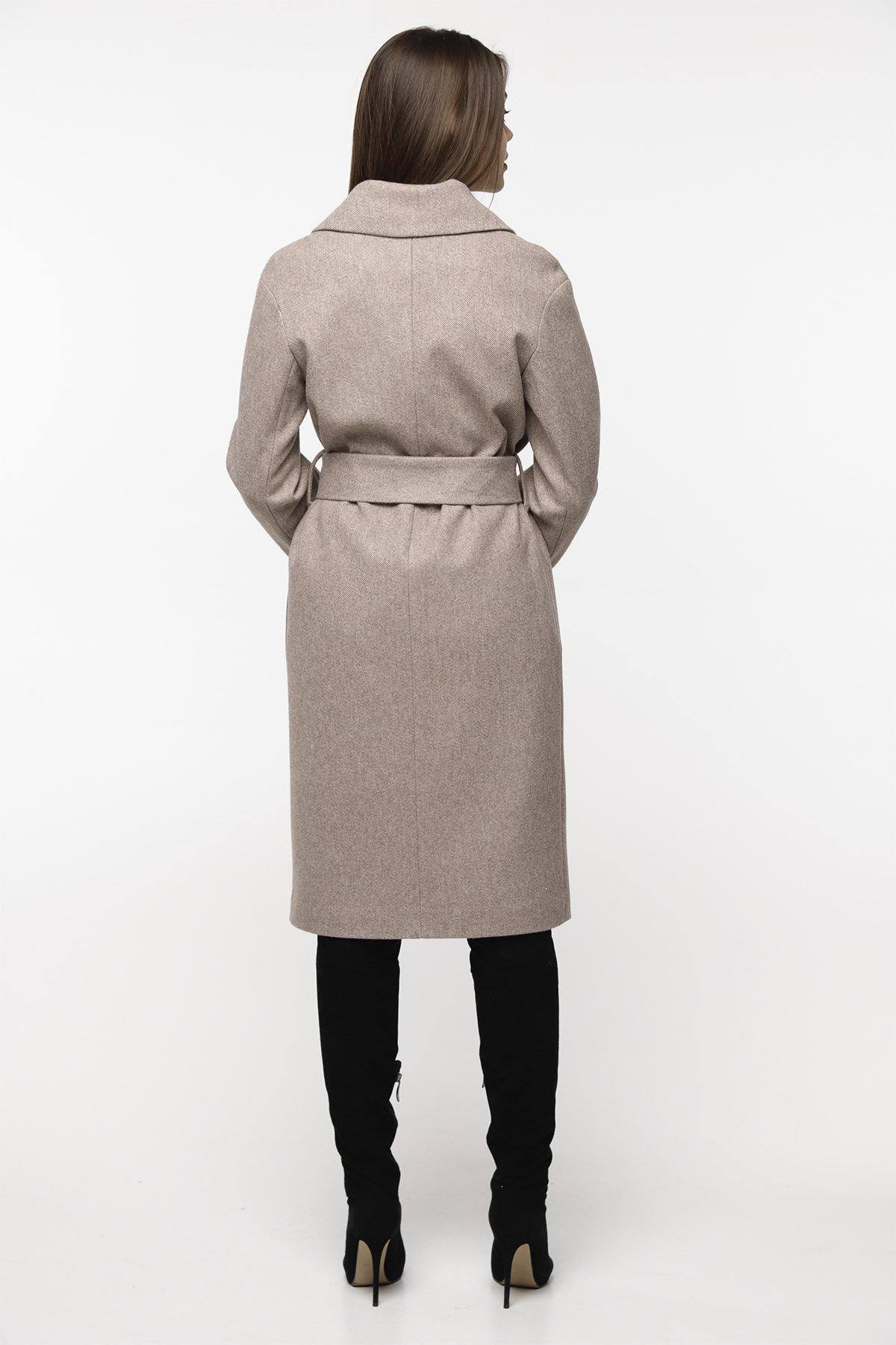 Демисезонное пальто бежевого цвета Севен 8757 АРТ. 45113 Цвет: Бежевый - фото 4, интернет магазин tm-modus.ru