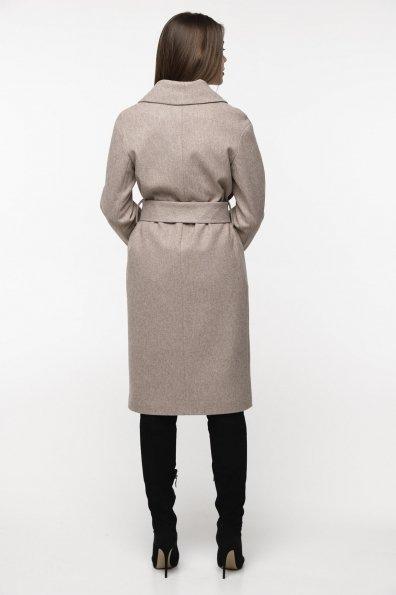 Демисезонное пальто бежевого цвета Севен 8757 Цвет: Бежевый