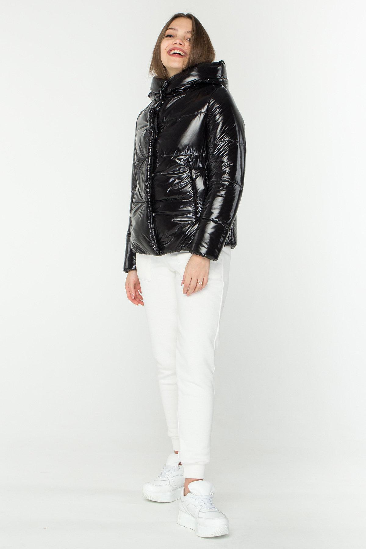 Короткая лаковая куртка Рито 8805 Цвет: Черный