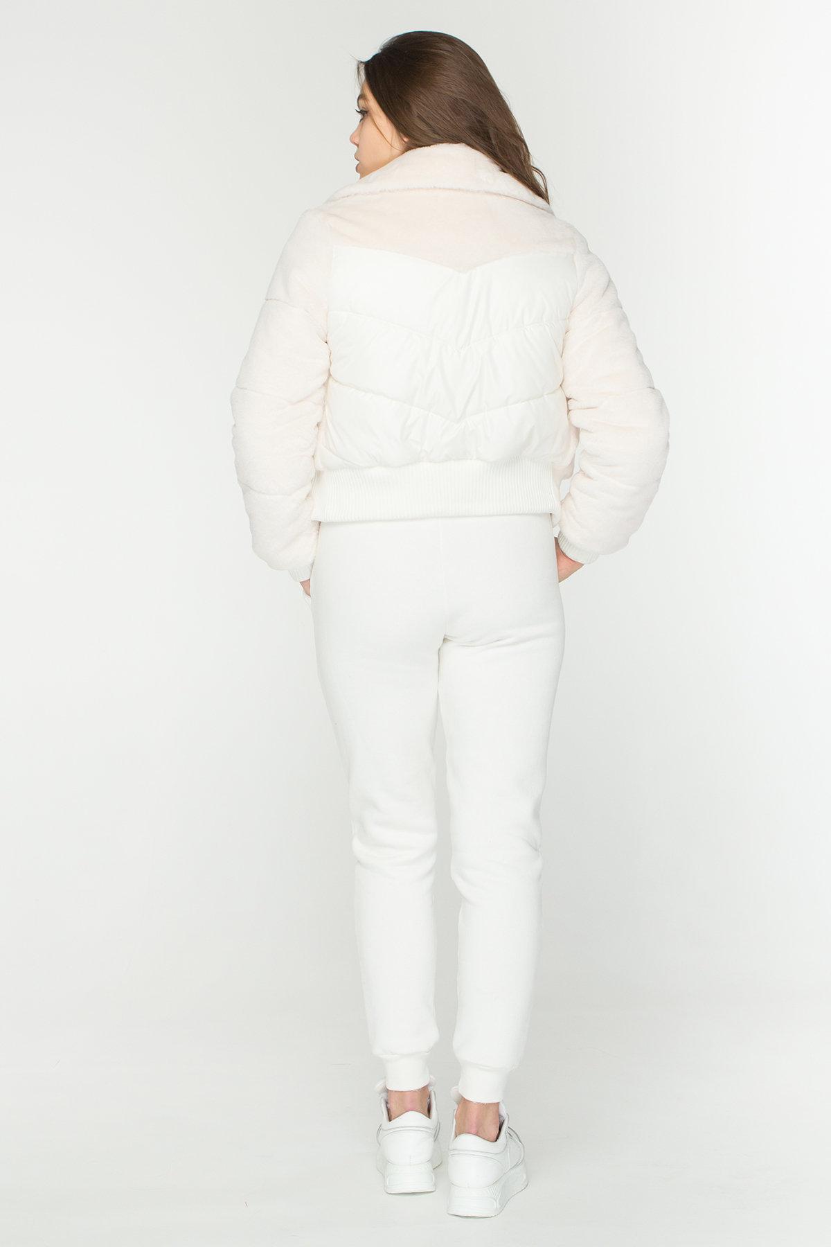 Стильная куртка бомбер Рино 8720 АРТ. 45171 Цвет: Молоко - фото 2, интернет магазин tm-modus.ru