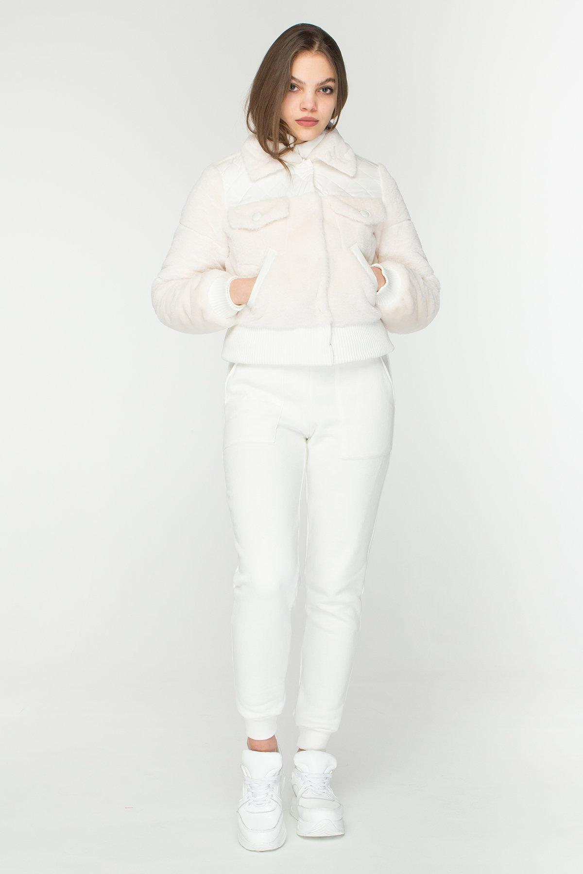 Стильная куртка бомбер Рино 8720 АРТ. 45171 Цвет: Молоко - фото 3, интернет магазин tm-modus.ru