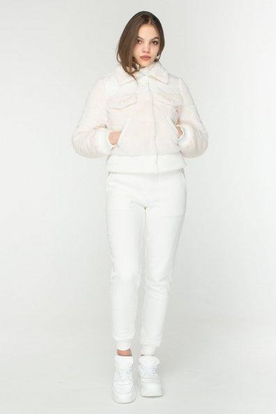 Стильная куртка бомбер Рино 8720 Цвет: Молоко