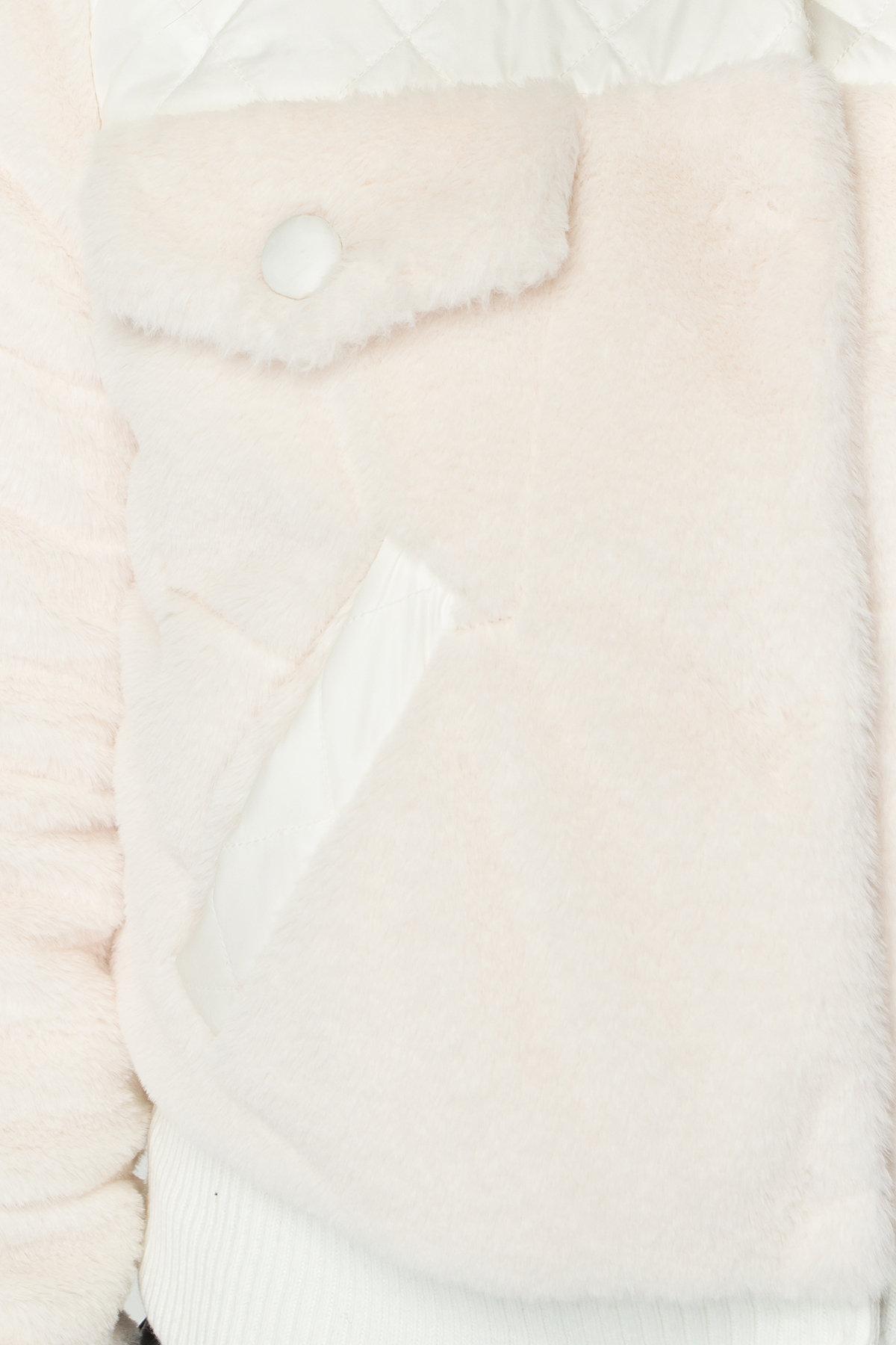 Стильная куртка бомбер Рино 8720 АРТ. 45171 Цвет: Молоко - фото 7, интернет магазин tm-modus.ru