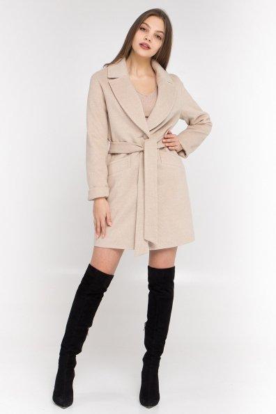Кашемировое пальто Вейсона 8803 Цвет: Бежевый