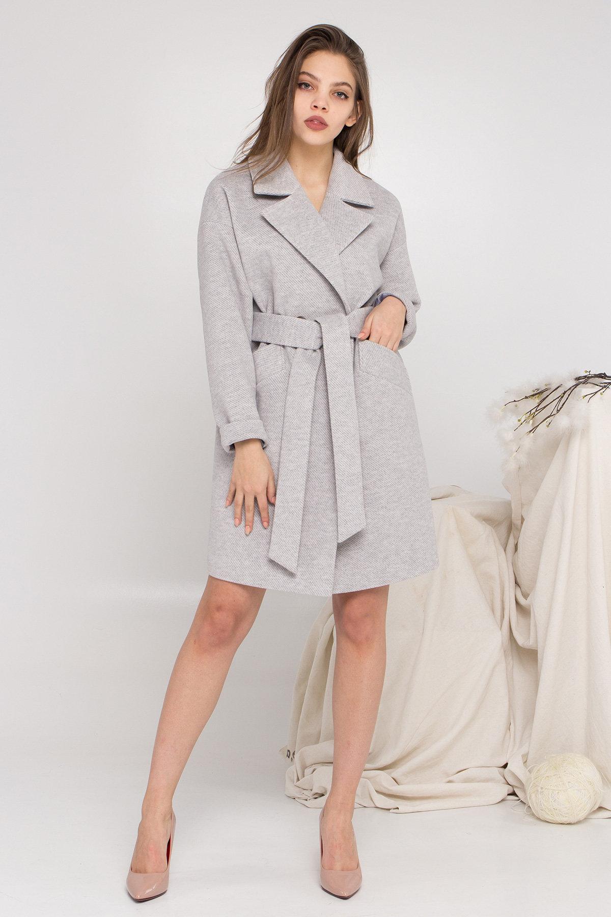 Пальто женское демисезонное купить в интернете Демисезонное двубортное пальто Сенсей 8845