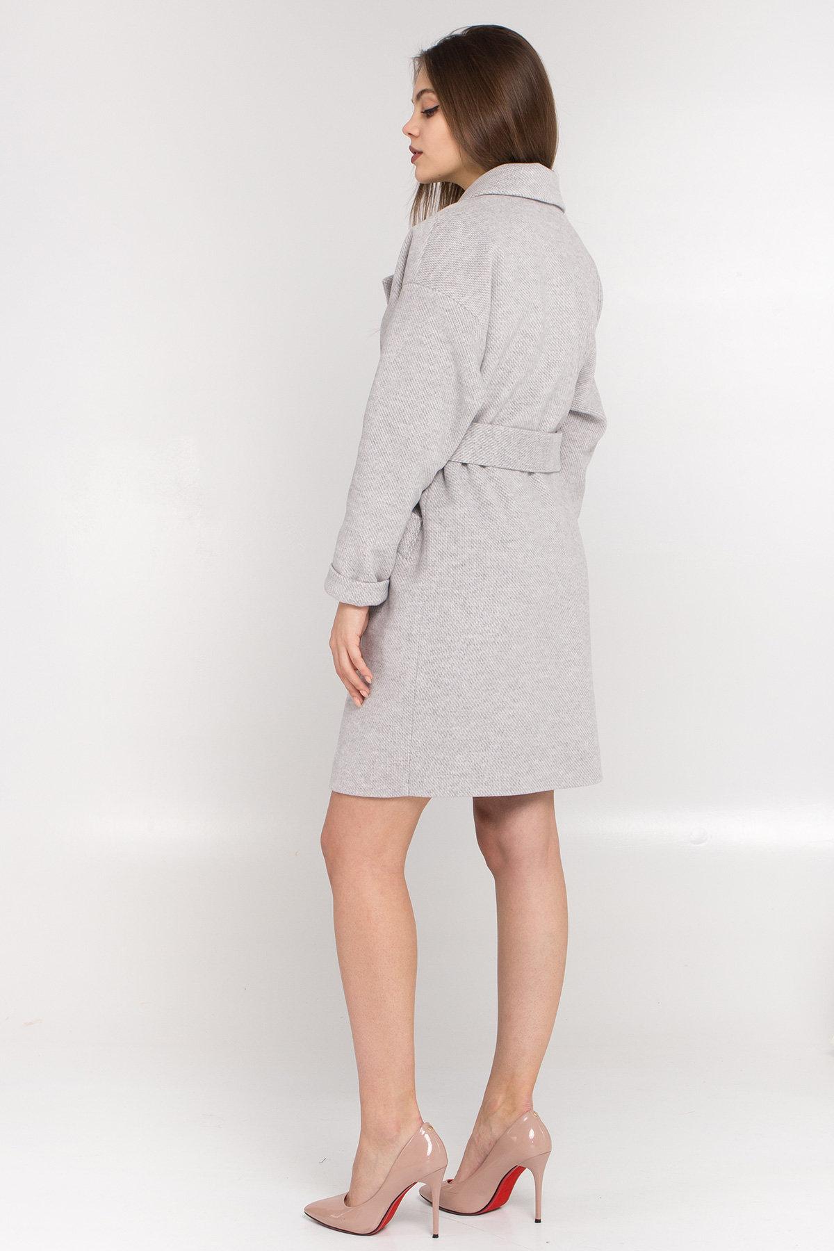 Демисезонное двубортное пальто Сенсей 8845 АРТ. 45170 Цвет: Светло серый - фото 5, интернет магазин tm-modus.ru