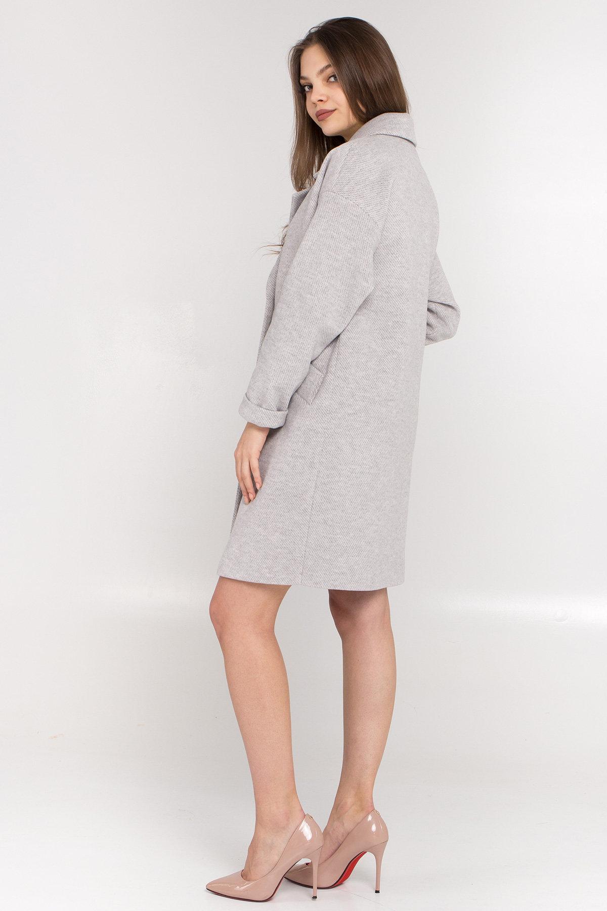 Демисезонное двубортное пальто Сенсей 8845 АРТ. 45170 Цвет: Светло серый - фото 6, интернет магазин tm-modus.ru