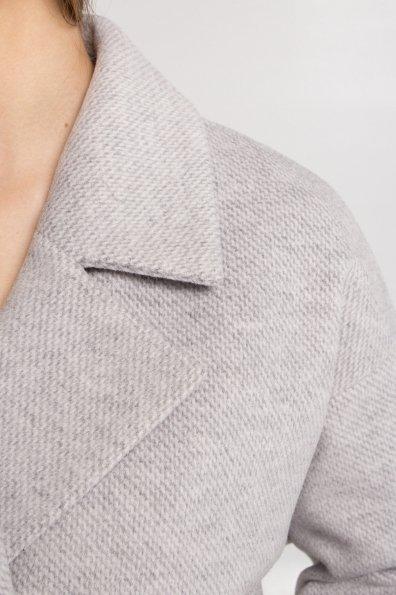 Демисезонное двубортное пальто Сенсей 8845 Цвет: Светло серый