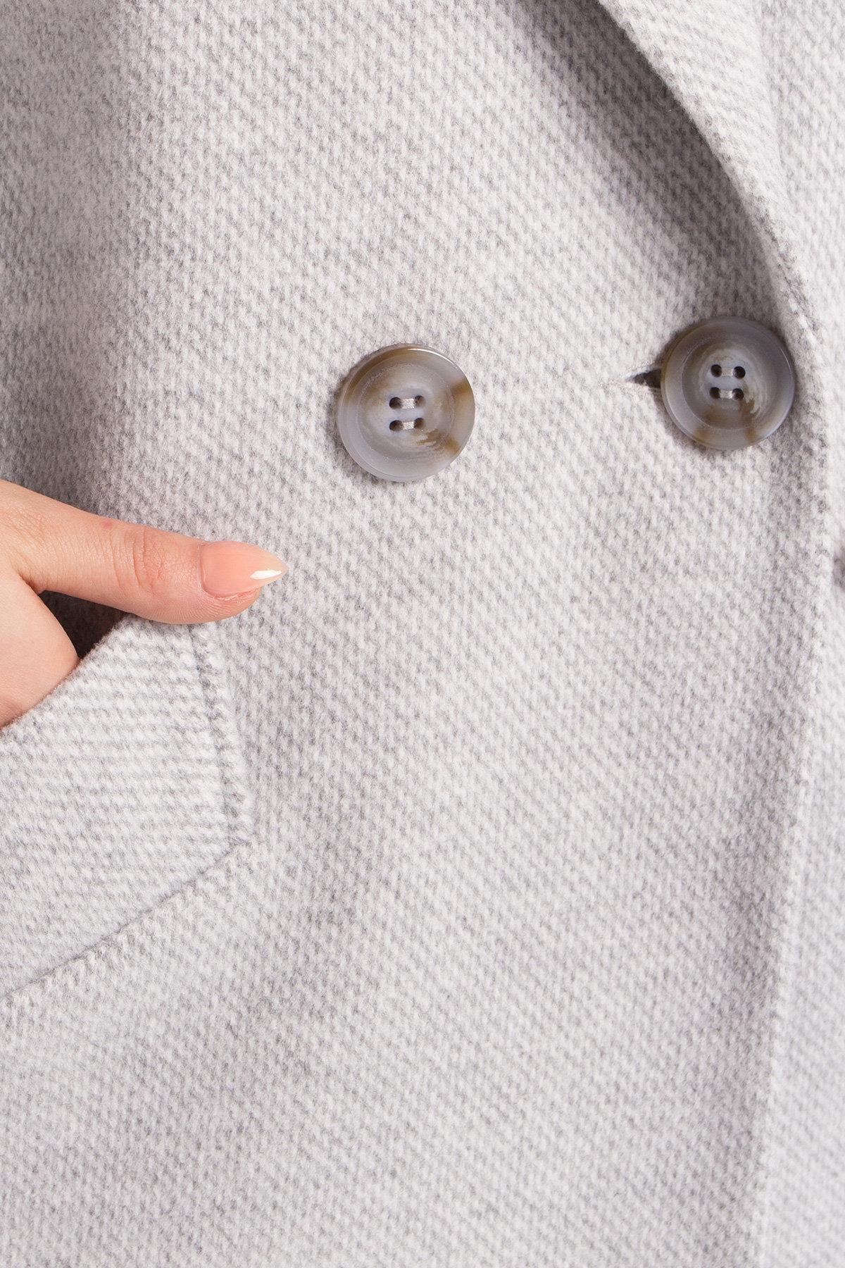 Демисезонное двубортное пальто Сенсей 8845 АРТ. 45170 Цвет: Светло серый - фото 8, интернет магазин tm-modus.ru
