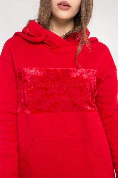 Платье худи Томми 8703 Цвет: Красный/красный