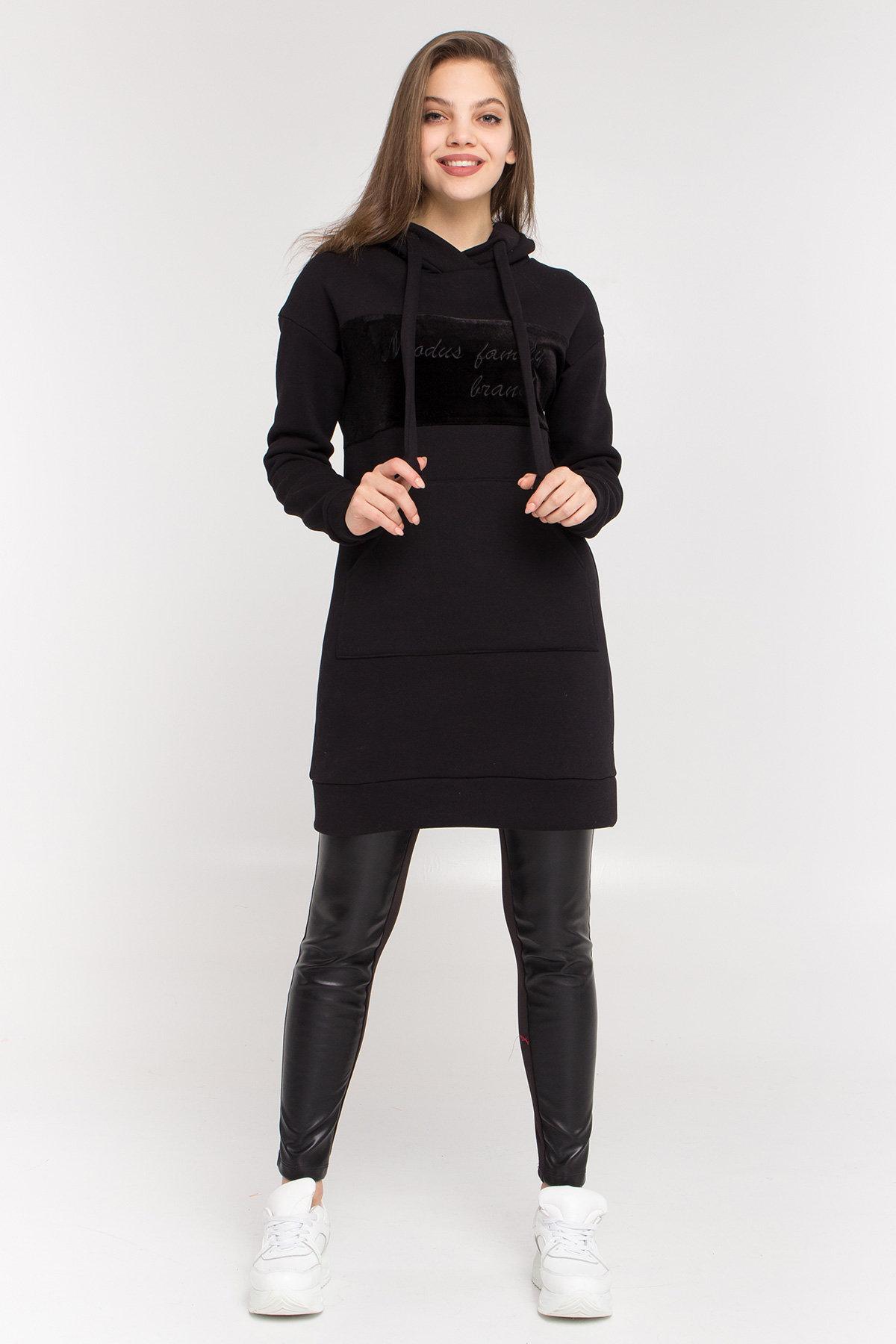 вязаный свитер купить Платье худи Томми 8703
