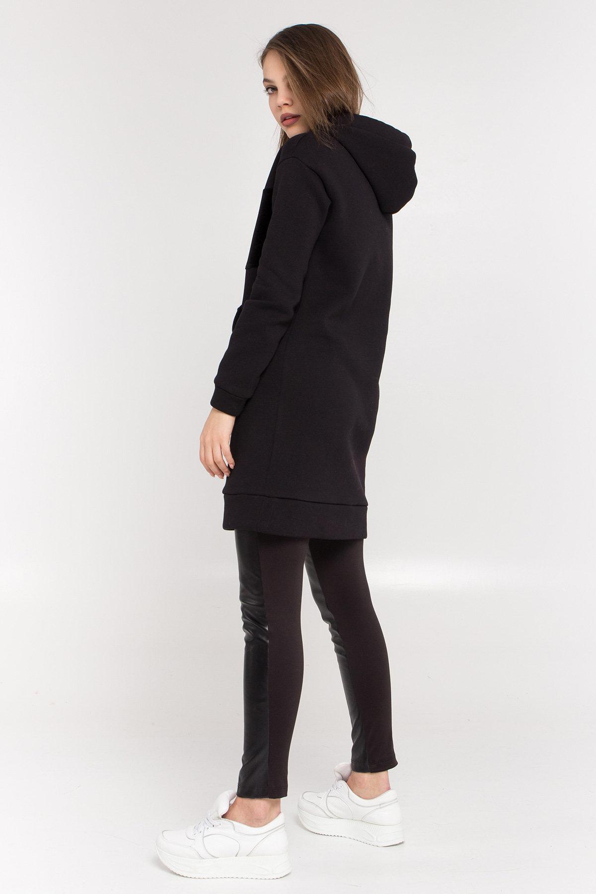 Платье худи Томми 8703 АРТ. 45099 Цвет: Черный/черный - фото 5, интернет магазин tm-modus.ru
