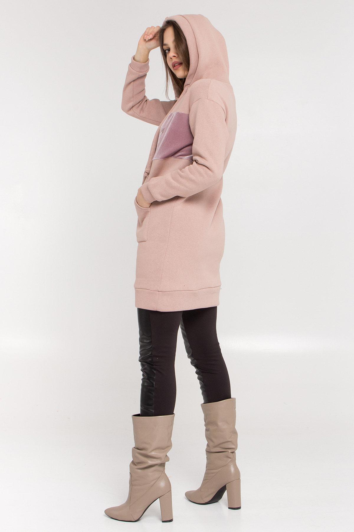 Платье худи Томми 8703 АРТ. 45101 Цвет: Бежевый/бежевый - фото 4, интернет магазин tm-modus.ru