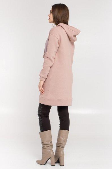 Платье худи Томми 8703 Цвет: Бежевый/бежевый