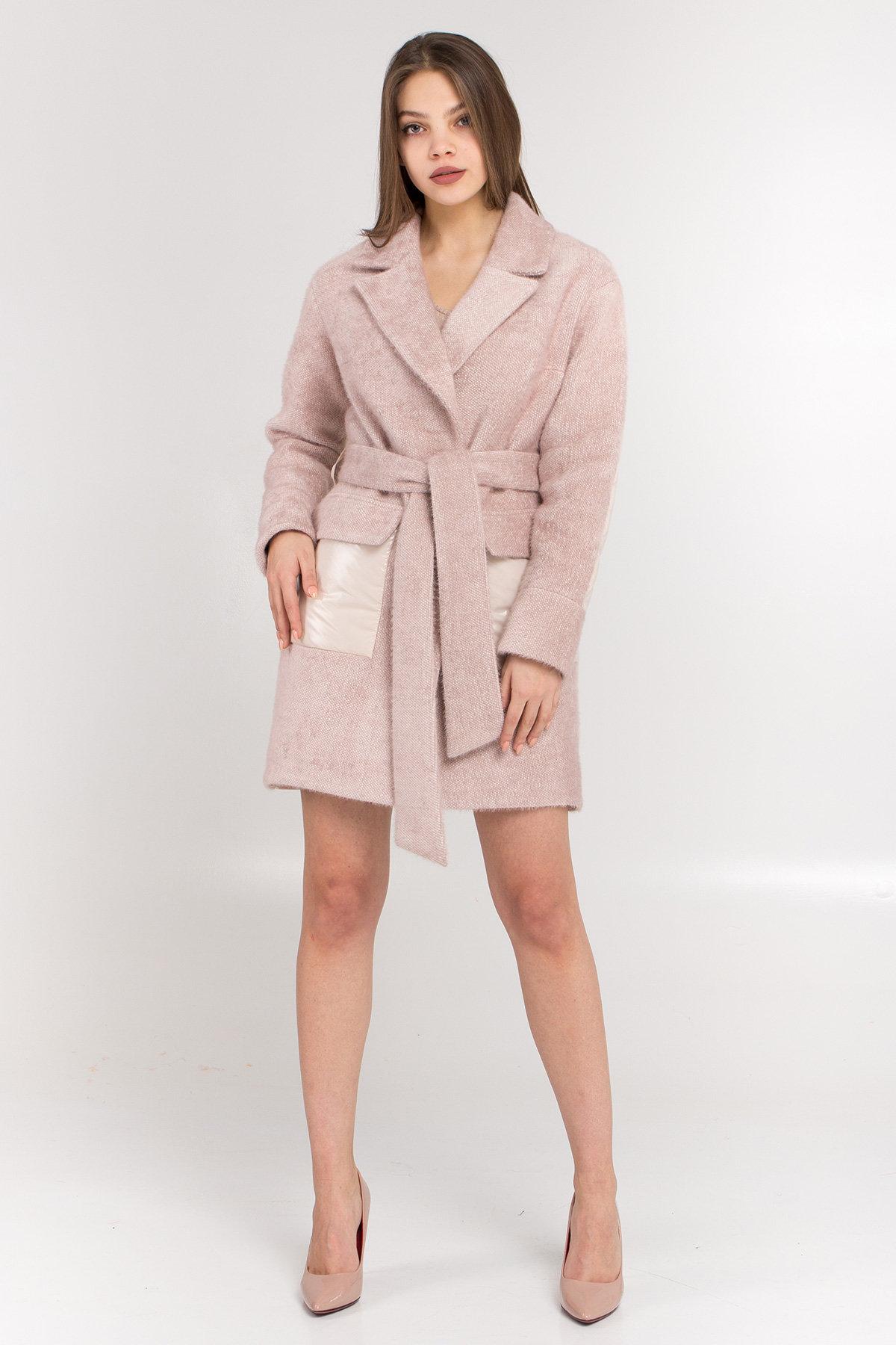 Демисезонное пальто купить Комбинированное пальто Монклер 8884
