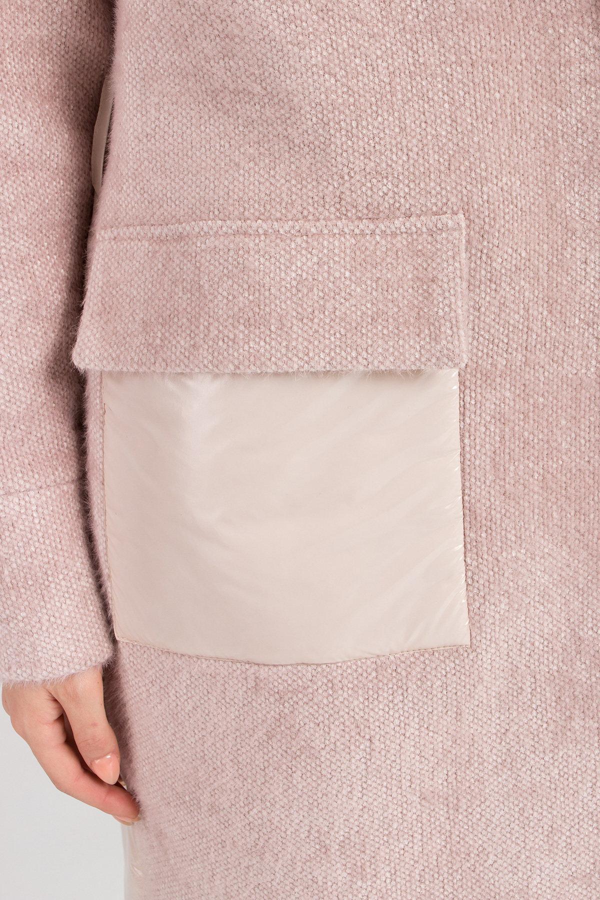 Комбинированное пальто Монклер 8884 АРТ. 45205 Цвет: Пудра/молоко - фото 7, интернет магазин tm-modus.ru
