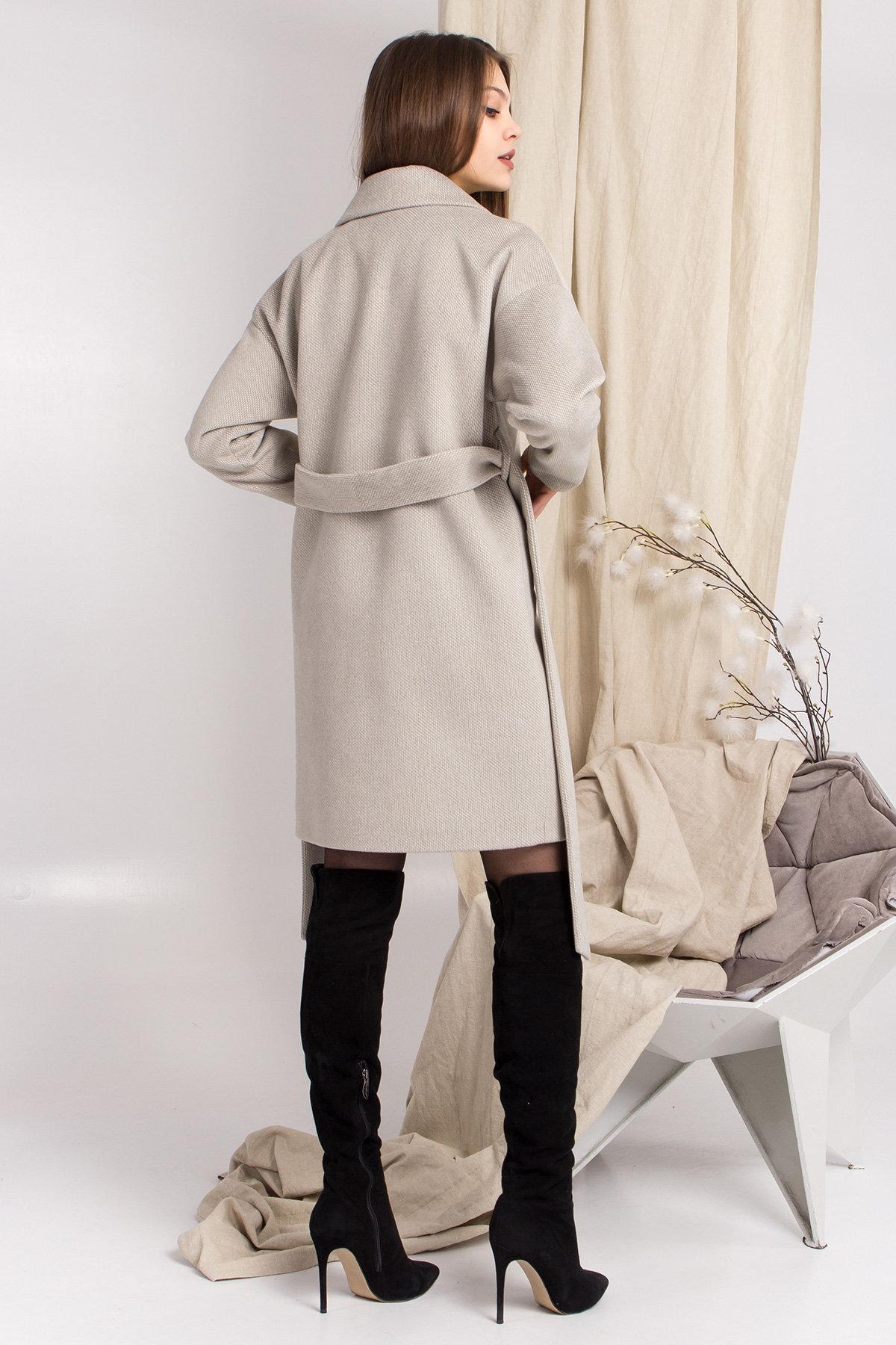 Демисезонное двубортное пальто Сенсей 8845 АРТ. 45218 Цвет: Олива - фото 3, интернет магазин tm-modus.ru