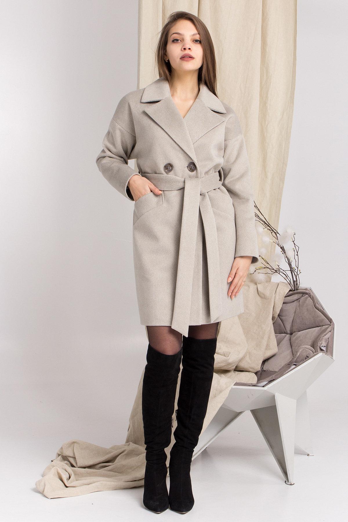 Демисезонное двубортное пальто Сенсей 8845 АРТ. 45218 Цвет: Олива - фото 5, интернет магазин tm-modus.ru