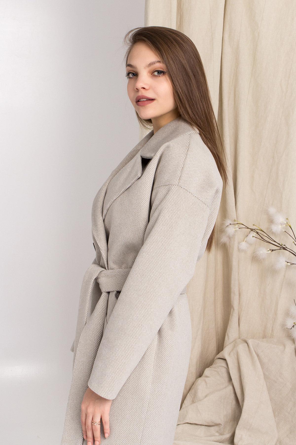 Демисезонное двубортное пальто Сенсей 8845 Цвет: Олива