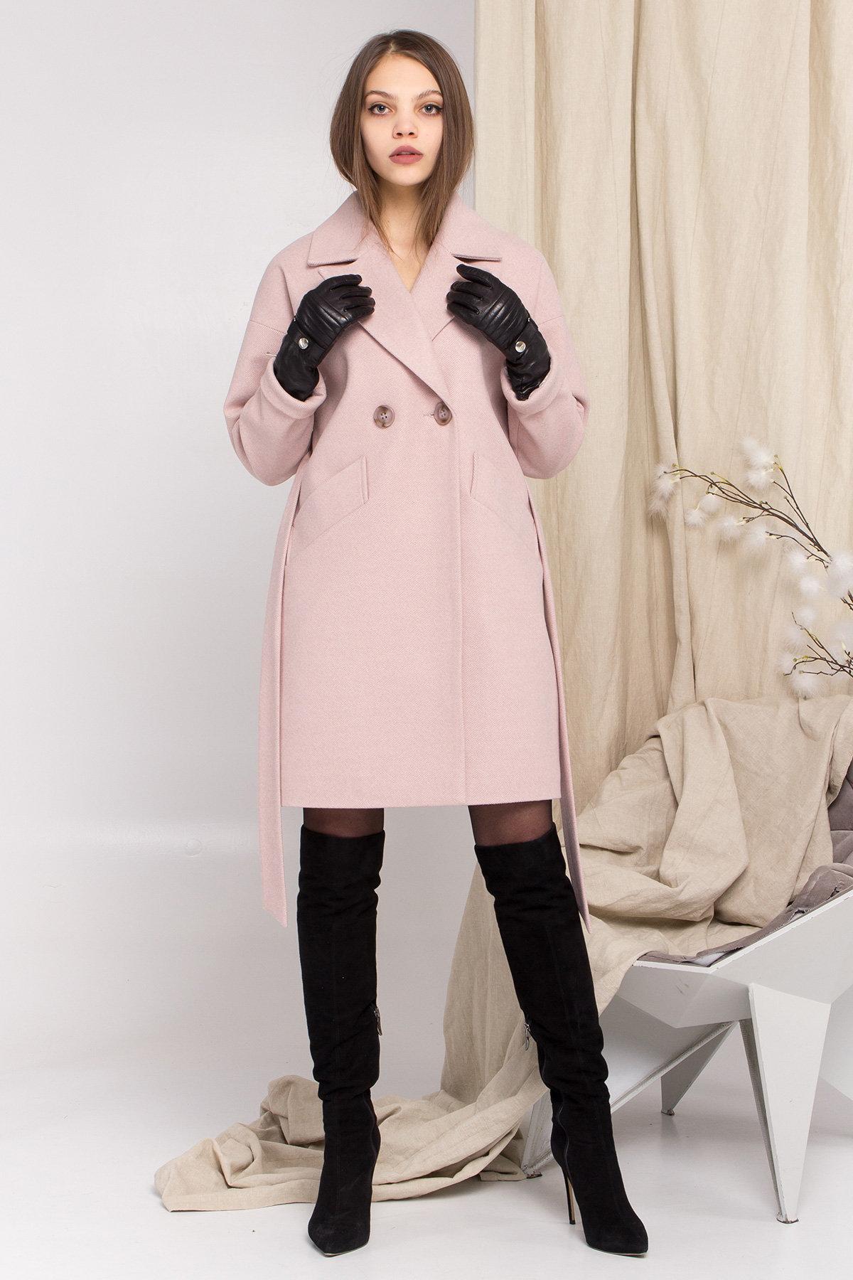 Пальто Сенсей 8907 АРТ. 45220 Цвет: Пудра - фото 1, интернет магазин tm-modus.ru