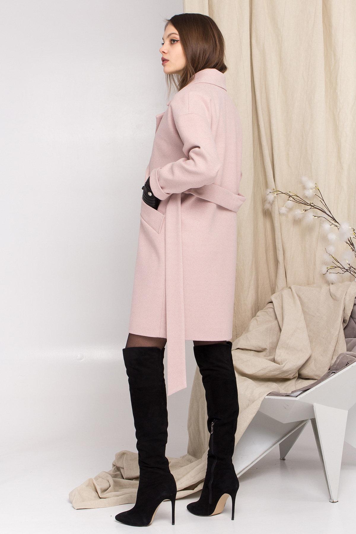 Пальто Сенсей 8907 АРТ. 45220 Цвет: Пудра - фото 2, интернет магазин tm-modus.ru