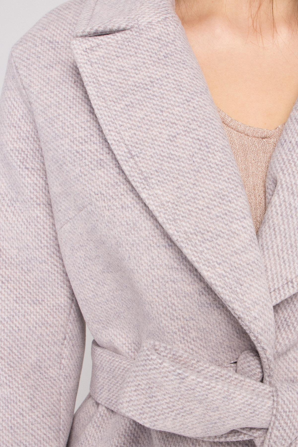 Кашемировое пальто Вейсона 8803 Цвет: Серо-бежевый 29