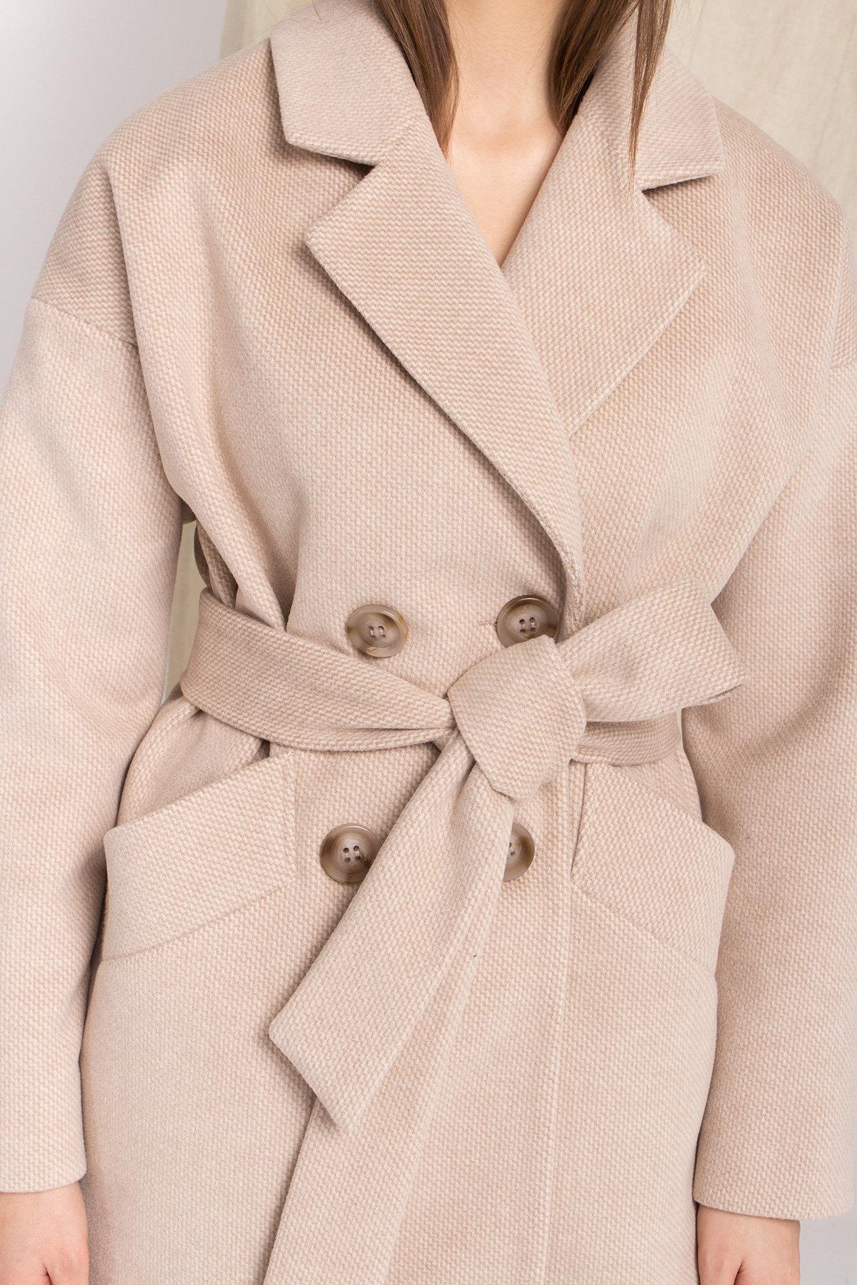 Демисезонное двубортное пальто Бонд 8927 АРТ. 45227 Цвет: Бежевый Светлый - фото 9, интернет магазин tm-modus.ru